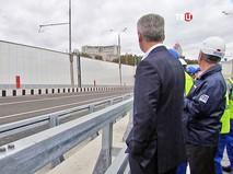 Сергей Собянин на открытии движения по винчестерному тоннелю на пересечении улиц Народного Ополчения и Берзарина