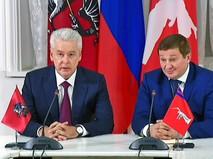 Мэр Москвы Сергей Собянин и губернатор Волгоградской области Андрей Бочаров