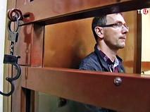 Задержанный главный инженер сгоревшей типографии Антон Яцков