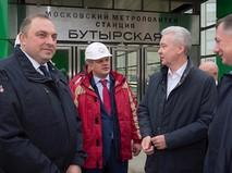 Сергей Собянин на открытии новых станции Люблинско-Дмитровской линии