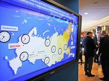Карта хода голосования в разных регионах России