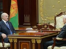 Встреча Александра Лукашенко с Государственным секретарем Союзного государства Григорием Рапотой