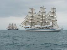 """Фрегат """"Мир"""".Черноморская регата больших парусников в Сочи"""