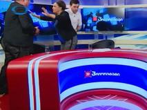 Драка кандидатов в депутаты национального парламента Грузии во время прямого эфира