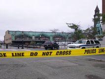 Железнодорожный вокзал в городе Хобокен, штат Нью-Джерси