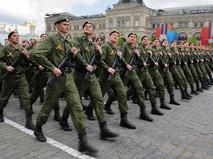Парадный расчет сухопутных войск вооруженных сил России