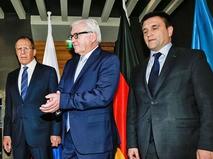 Сергей Лавров, Франк-Вальтер Штайнмайер и Павел Климкин