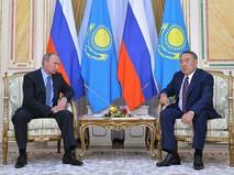 Владимир Путин и Президент Казахстана Нурсултан Назарбаев