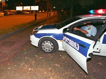 Полиция Грузии на месте происшествия