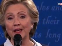 Муха на лице Хиллари Клинтон