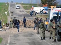 Турецкие военные на месте происшествия