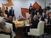 Президент России Владимир Путин на встрече лидеров стран БРИКС