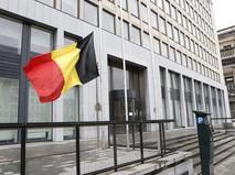 Флаг Бельгии в Брюсселе