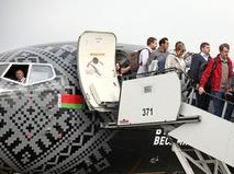 "Пассажиры самолета авиакомпании ""Белавиа"""