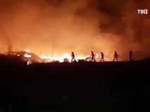 Пожар в палаточном городоке мигрантов в Европе