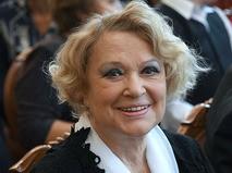 Валентина Талызина на традиционном сборе труппы Московского академического театра имени Моссовета