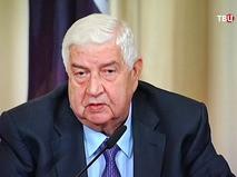 Министр иностранных дел и по делам эмигрантов Сирийской Арабской Республики Валид Муаллем