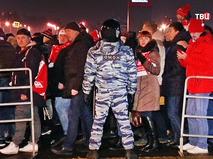 Полицейское оцепление на футбольном матче