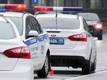 Машины ДПС на месте происшествия