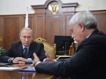 Президент России Владимир Путин и губернатор Санкт-Петербурга Георгий Полтавченко