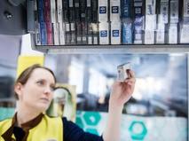 Продажа сигарет в супермаркете