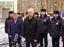 Мэр Москвы Сергей Собянин во время поздравления сотрудников полиции с профессиональным праздником