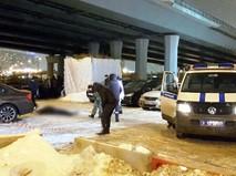Работа полиции на месте убийства