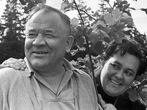 Борис Андреев с супругой Ксенией