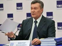 Экс-президент Украины Виктор Янукович во время пресс-конференции в Ростове-на-Дону
