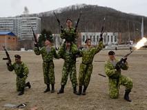 Показательное выступление морских пехотинцев