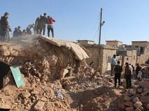 Освобожденный от боевиков квартал Алеппо, Сирия