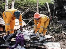 Спасатели Колумбии на месте происшествия