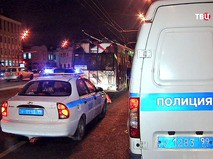 Полиция на месте инцидента с троллейбусом