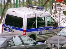 Машина полиции на месте происшествия в Москве