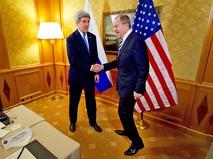 Глава МИД России Сергей Лавров и госсеркетар США Джон Керри