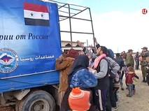 Гуманитарная помощь для жителей Сирии