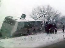 ДТП с участием автобуса в Ханты-Мансийске