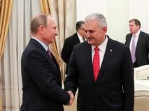 Президент РФ Владимир Путин и премьер-министр Турции Бинали Йылдырым