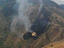 Место падения самолета в Пакистане