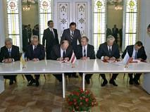Церемония подписания Соглашения о ликвидации СССР и создании СНГ