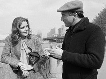 Ирина Алфёрова с известным американским актёром Робертом Де Ниро на набережной Москвы-реки