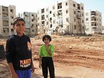 Дети из семей беженцев в Алеппо