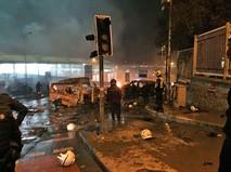 На месте теракта в Стамбуле, Турция