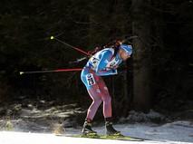 Антон Шипулин (Россия) на дистанции спринтерской гонки