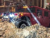 Автохулиган на Hummer