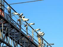 Камеры контроля скоростного режима на дороге в Москве