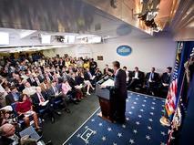 Барак Обама на пресс-конференции