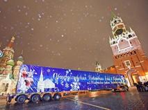 Привоз главной новогодней елки страны в Кремль