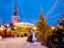 Новогодняя иллюминация на Красной площади
