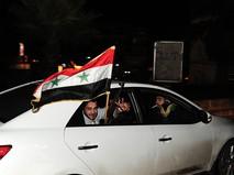 Жители Алеппо празднуют освобождение города от террористов